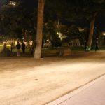 Actividad de educación física con luz